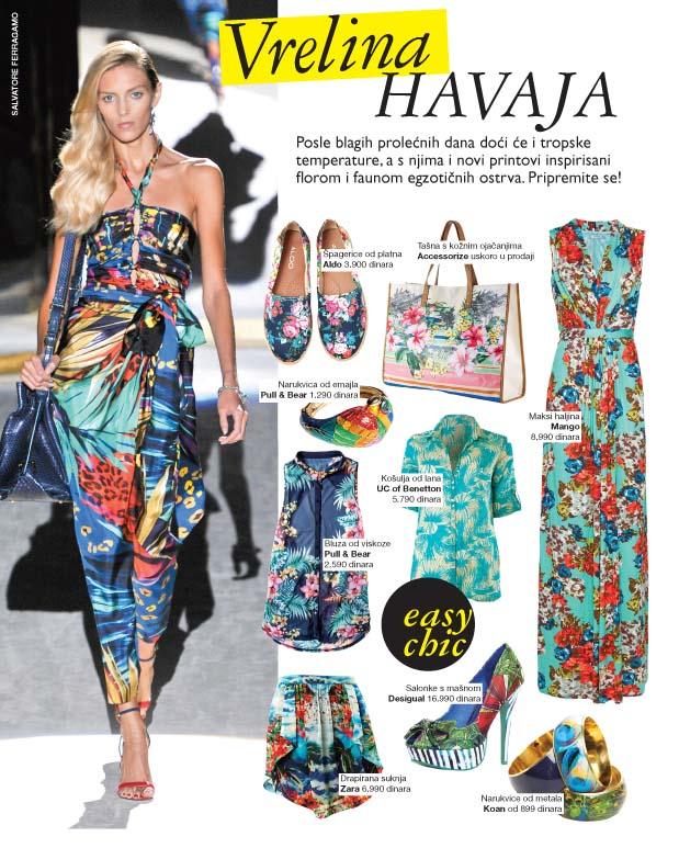 Tropski printovi, trend, shopping
