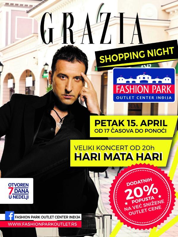Grazia Shopping Night - Fashion Park Outlet Center Inđija, 15. april 2016.