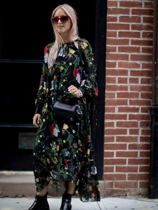 Cvetne midi haljine za svakodnevne kombinacije