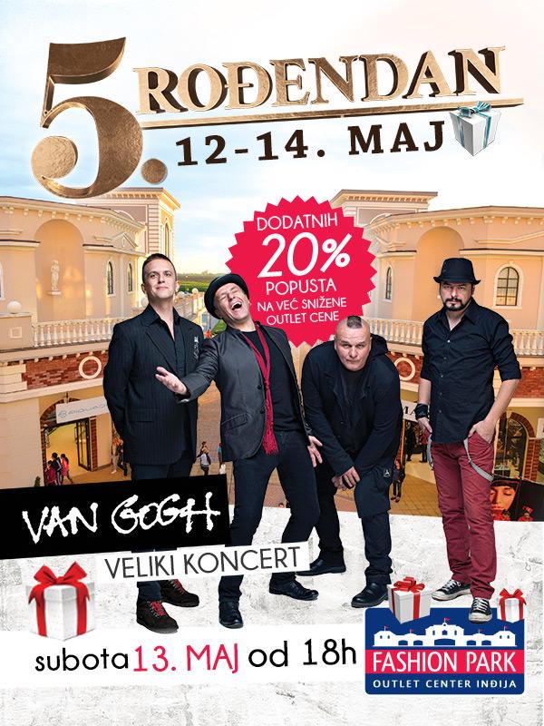 Fashion Park Outlet Centar Inđija - peta rođendanska žurka uz popuste i veliki koncert grupe Van Gogh!