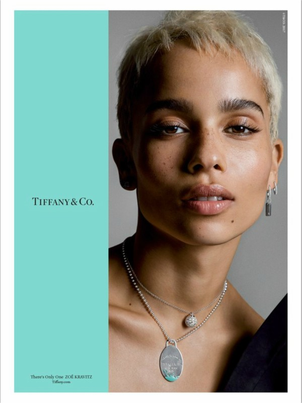 Zoe Kravic u reklamnoj kampanji Tiffany & Co