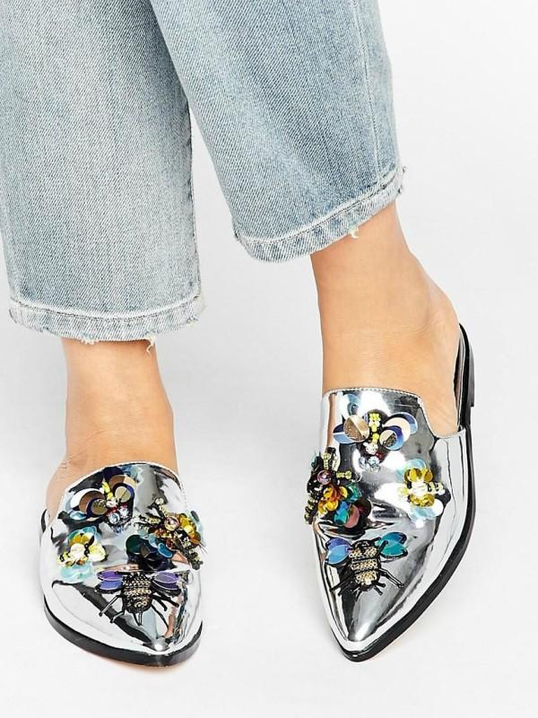 Papuče sa raskošnim kamenjem: 30 modela za sve ukuse