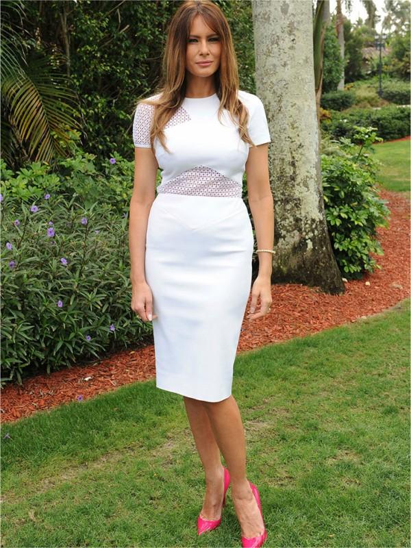 U Beloj kući, u beloj haljini: omiljena boja Melanije Tramp