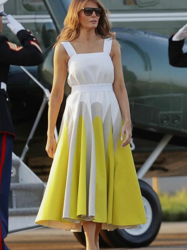 Melanija Tramp u neodoljivoj Delpozo haljini