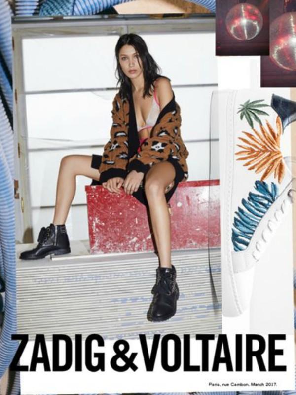 Bela Hadid u kampanji Zadig & Voltaire jesen/zima 2017/2018