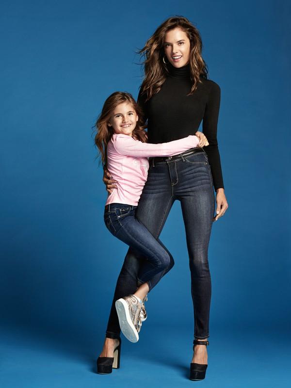 Alesandra Ambrosio sa svojom ćerkom u kampanji Jordache