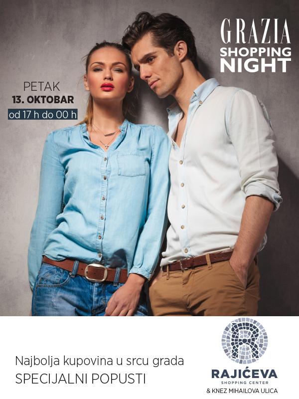 Izveštaj sa Grazia Shopping Nighta – Rajićeva Shopping Centar i Knez Mihailova ulica, 13. oktobar.