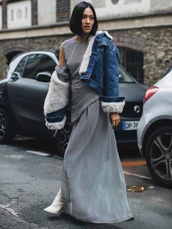 Moderne teksas jakne sa krznom