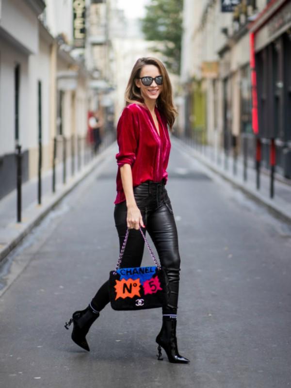 30 načina da nosite kožne pantalone kao street style zvezda