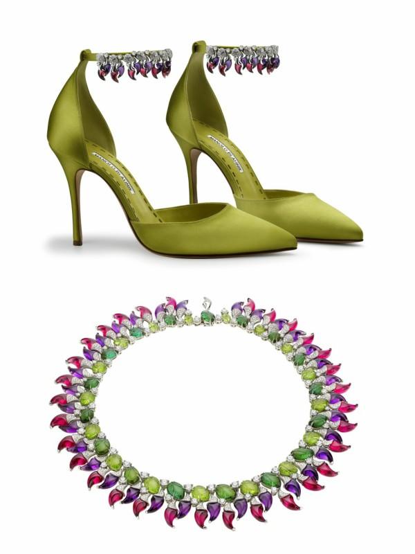 Cipele koje su zajednički kreirali Manolo Blahnik i Bvlgari