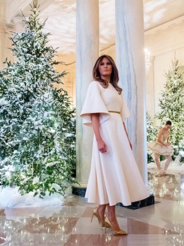 Kako je Melanija Tramp ukrasila Belu kuću za Božić