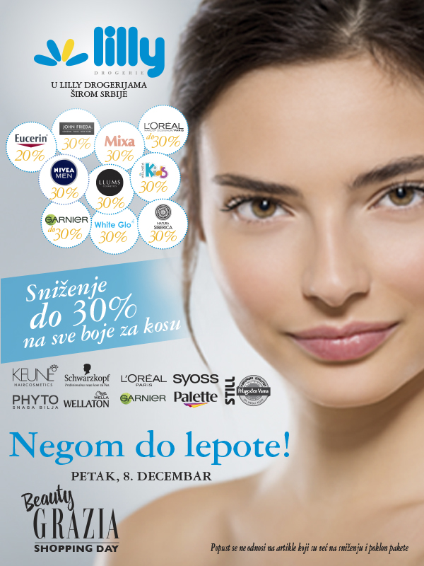 Beauty Grazia Shopping Day u Lilly drogerijama širom Srbije!
