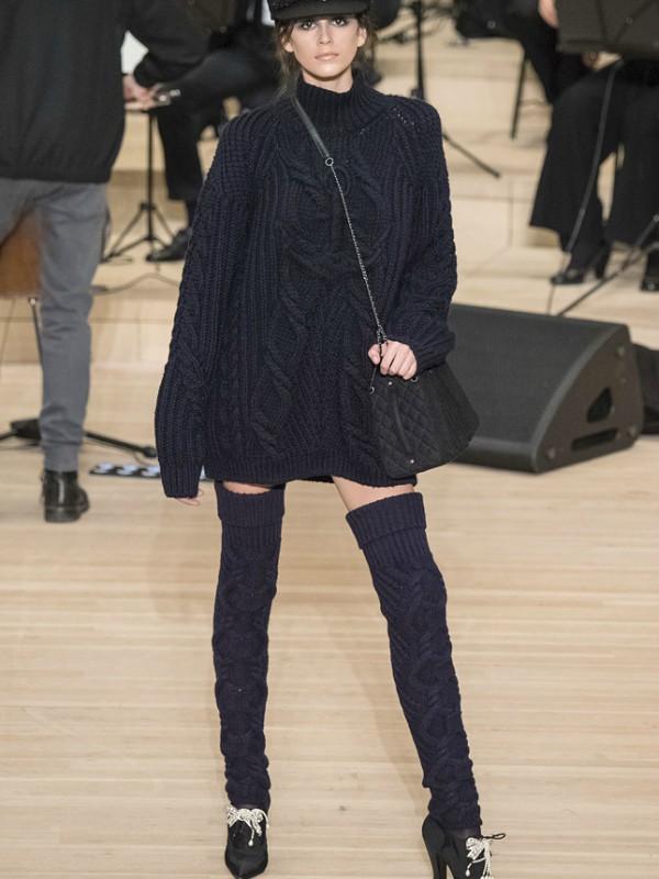 Čarape umesto zimskih čizama - kao na reviji Chanel