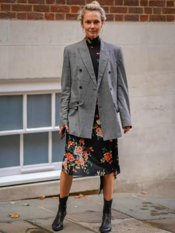 Street style: 30 primera kako nositi cvetni print u zimskom periodu