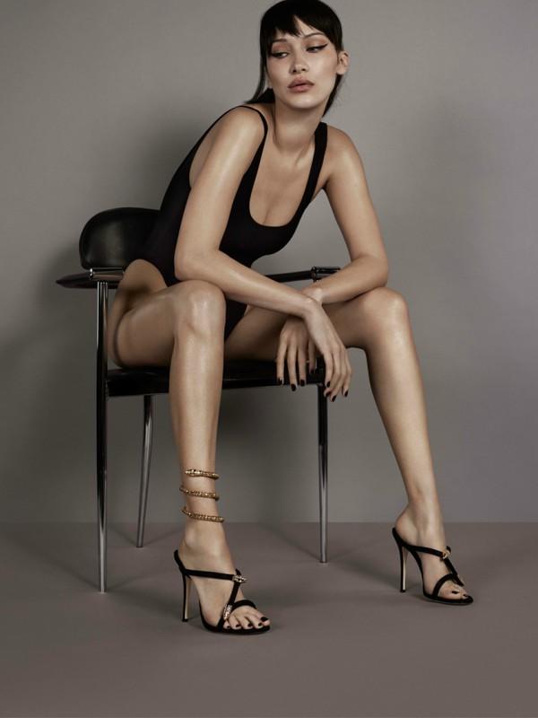 Bela Hadid u reklamnoj kampanji Giuseppe Zanotti