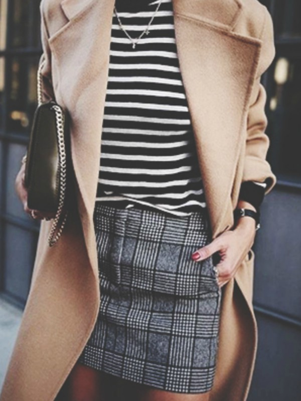 Zimski trend: sive karirane suknje