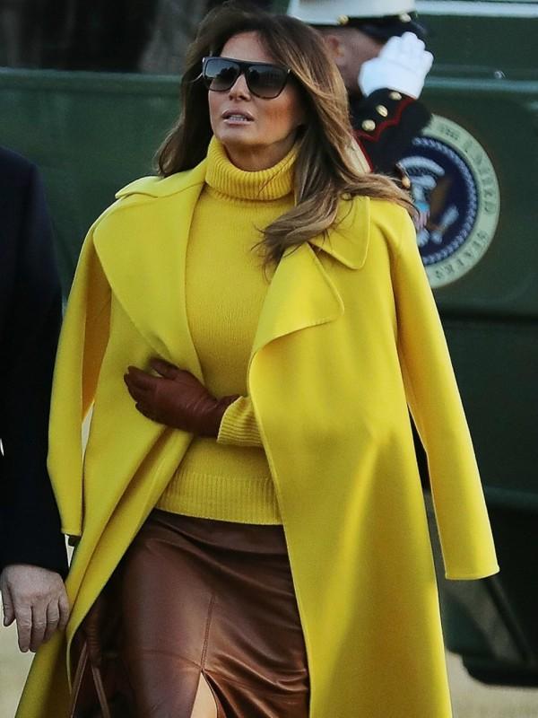 Look dana: Melanija Tramp u kaputu i džemperu Ralph Lauren