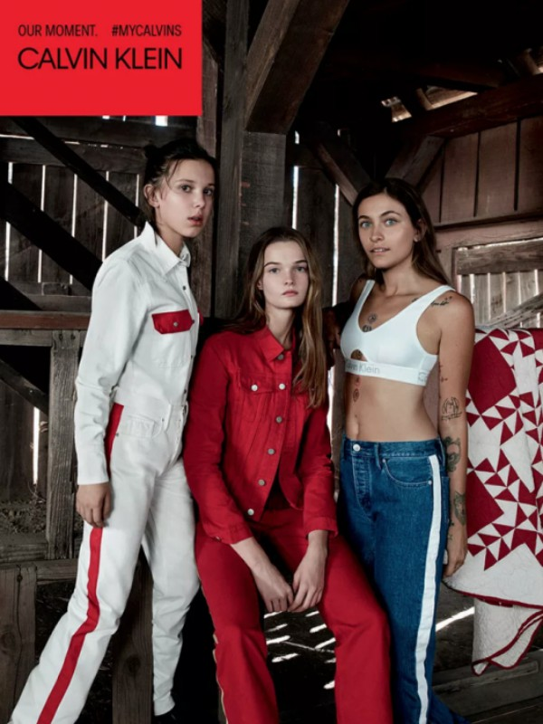 Mili Bobi Braun i Paris Džekson u kampanji Calvin Klein proleće/leto 2018