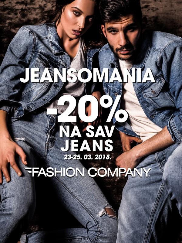 Vikend Jeansomania u Fashion Company prodavnicama