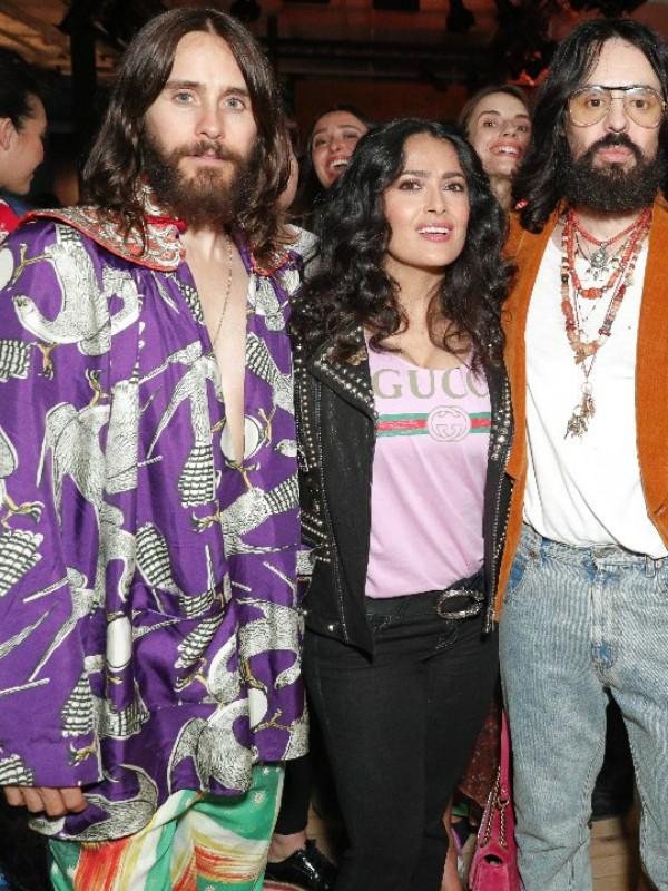 Rijana, Salma Hajek i drugi na otvaranju butika Gucci u Njujorku