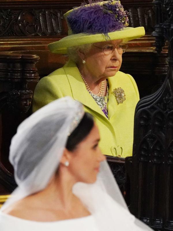 Elizabeta II na svadbi princa Harija i Megan Markl