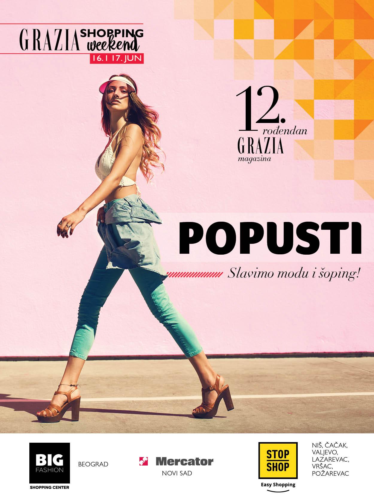 Grazia slavi 12. rođendan uz najveći Grazia Shopping Weekend!
