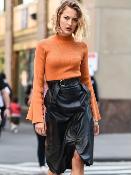 Najmodernije kožne suknje sezone