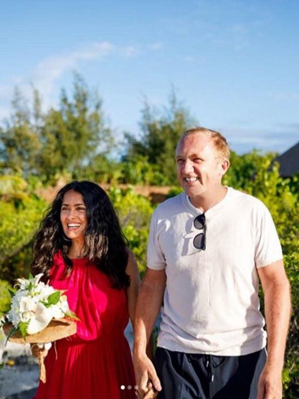 Salma Hajek i njen suprug obnovili venčane zavete nakon devet godina braka