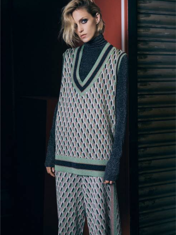 "Anja Rubik u lookbooku Zara ""The Knits"" jesen/zima 2018/2019"