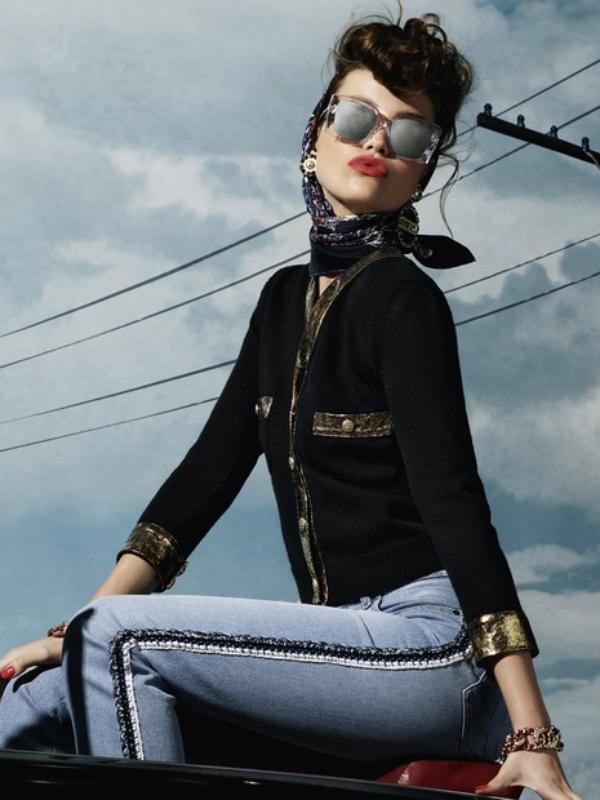 U stilu rokabili: reklamna kampanja Chanel Eyewear