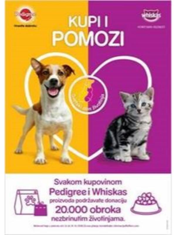 Budi i ti deo humanitarne akcije doniranja hrane za nezbrinute životinje - Kupi i pomozi!