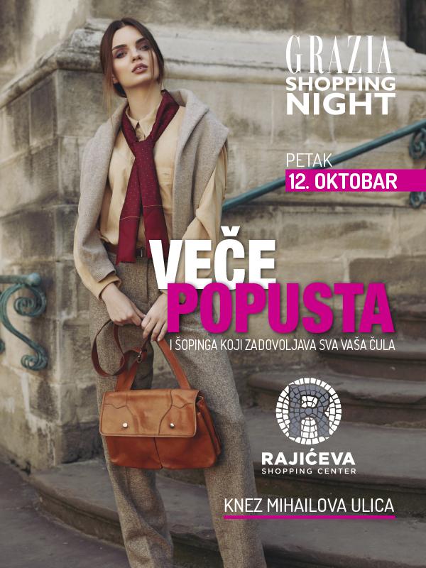 Grazia Shopping Night - modni zalet u srcu grada, 12. oktobar 2018.