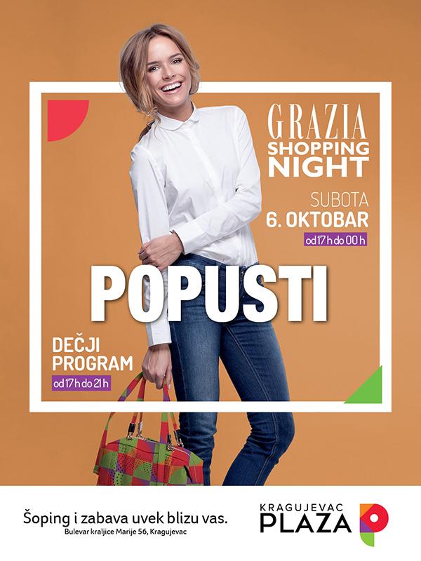 Izveštaj sa događaja – Grazia Shopping Night u Kragujevac Plazi,  6.10.2018.