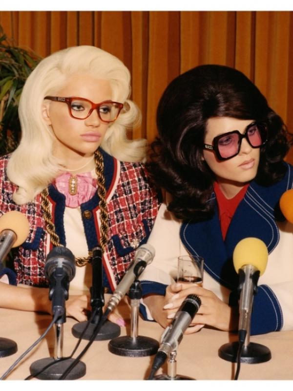 Konferencija za novinare u eyewear reklamnoj kampanji Gucci