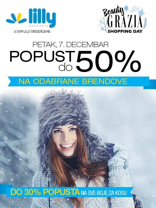 Beauty Grazia Shopping Day, 7. decembra u svim Lilly drogerijama!