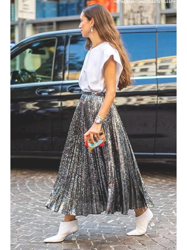 Suknja sa šljokicama – savršen komad za prazničnu sezonu