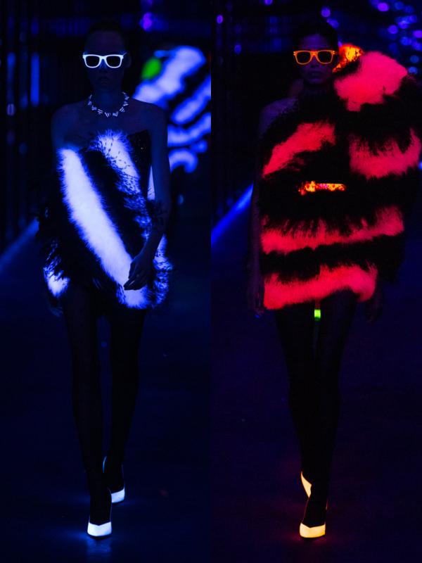 Široka ramena, smoking i neon u novoj kolekciji Saint Laurent 2019/20