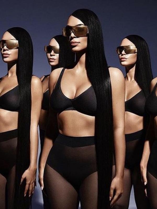 Kim Kardašijan sa svojim dvojnicama u novoj reklamnoj kampanji