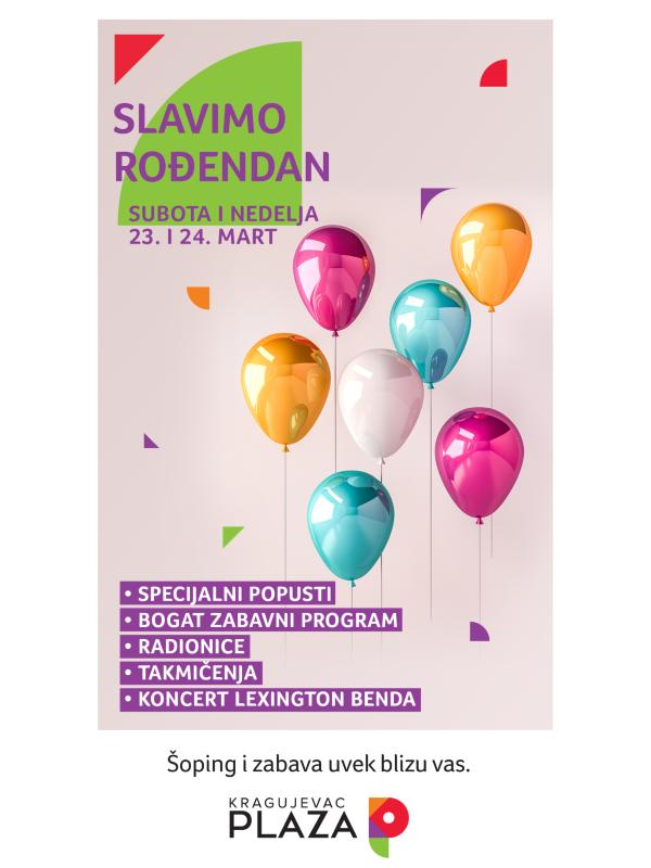 Rođendanski šoping i zabava u Šoping centru Kragujevac Plaza