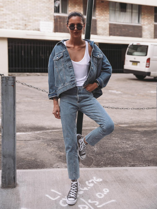 10 prolećnih stajlinga sa teksas jaknom