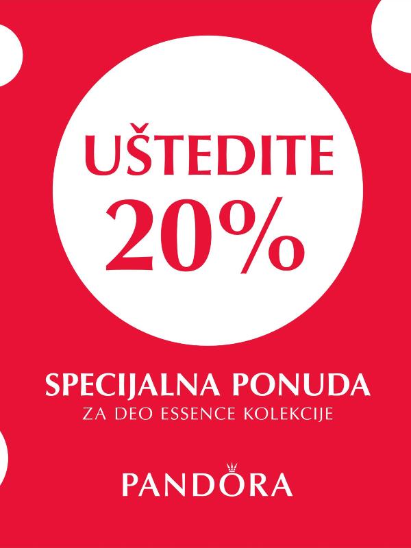 PANDORA je za Vas pripremila 20% popusta na deo ESSENCE kolekcije!