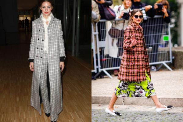 12 elegantnih kariranih kaputa u stilu Olivije Palermo