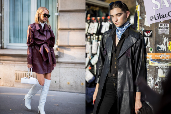 30 primera kako nositi kožni mantil ove jeseni