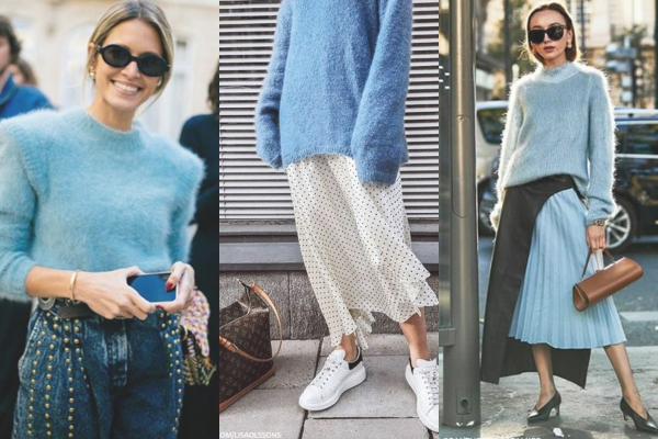 Jesenji trend: plavi topli džemperi