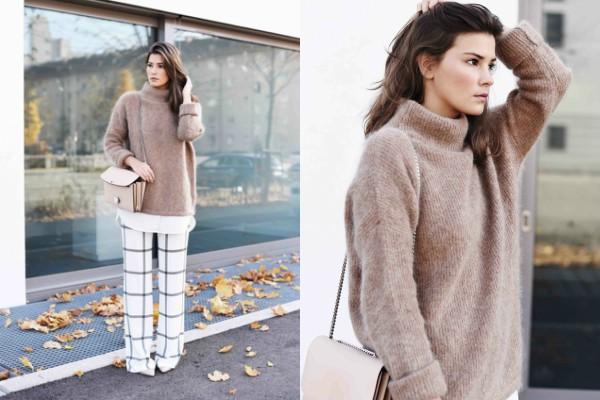 Kako nositi džempere od kašmira: ideje blogera
