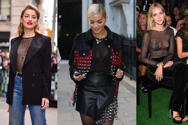 Kako nositi prozirne bluze: 14 ideja slavnih zvezda