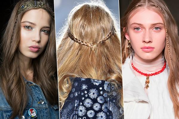 Moderne jesenje frizure sa pletenicama