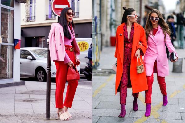 Pink + crvena - omiljena jesenja kombinacija