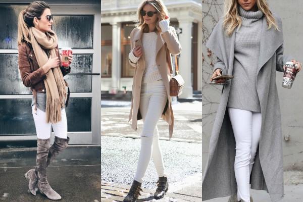 Snežno beli džins protiv tamnih jesenjih dana