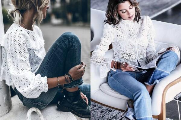 826f3adc6edd Trend sezone  bele bluze sa čipkom i karnerima